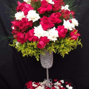 Arranjo de Mesa com Rosas